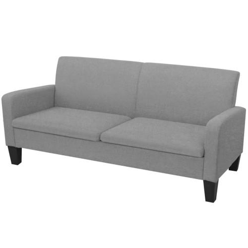 vidaXL 3-sitssoffa 180x65x76 cm ljusgrå