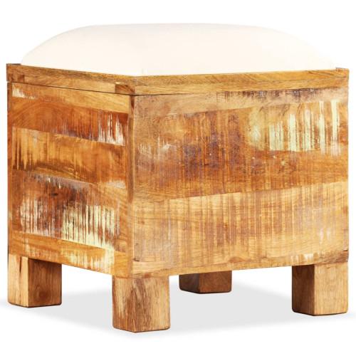 Dream Living Förvaringsbänk massivt återvunnet trä 40x40x45 cm