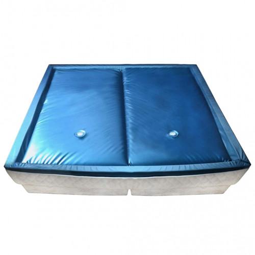 vidaXL Vattenmadrass set med foder och avdelare 200x200 cm F3