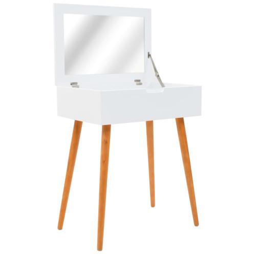 vidaXL Sminkbord med spegel MDF 60x40x75 cm