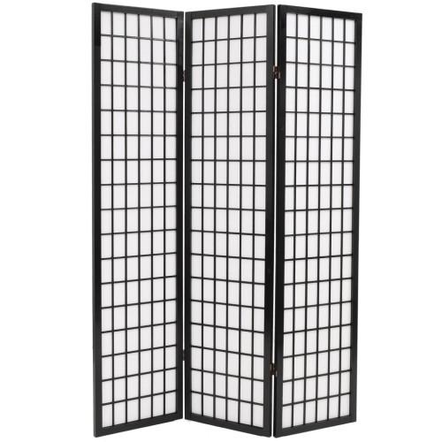 Dream Living Rumsavdelare med 3 paneler japansk stil 120x170 cm svart