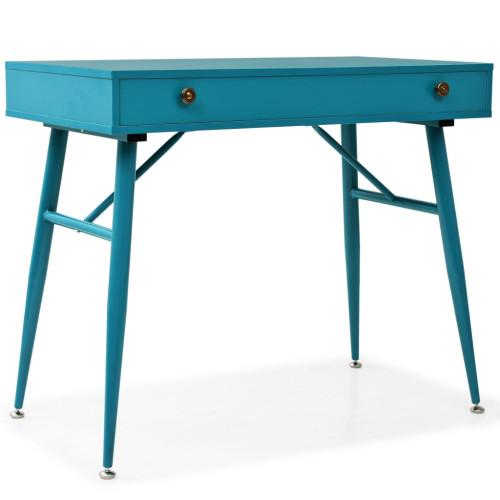 vidaXL Skrivbord med låda 90x50x76,5 cm antikgrön