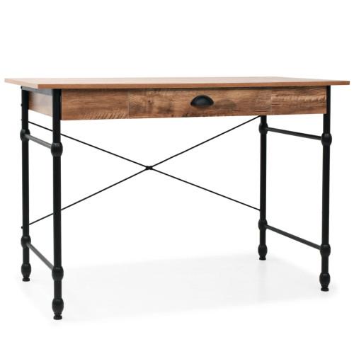 Dream Living Skrivbord med låda 110x55x75 cm ekfärg