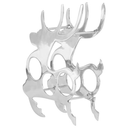 Dream Living Vinställ massiv aluminium 33x14x54 cm silver