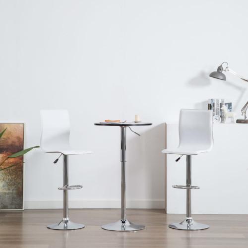 vidaXL Barstolar 2 st vit konstläder