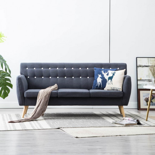 Dream Living 3-sitssoffa med tygklädsel 172x70x82 cm mörkgrå