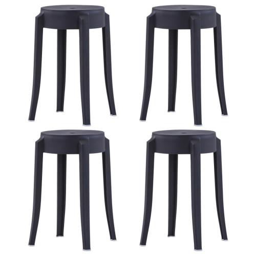 vidaXL Stapelbara pallar 4 st plast svart