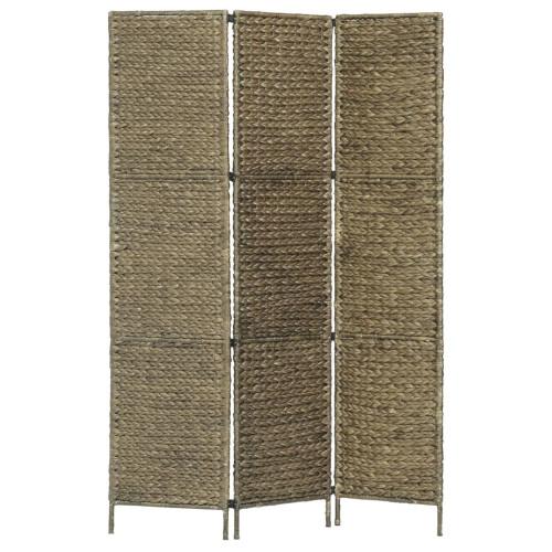 vidaXL Rumsavdelare 3 paneler vattenhyacint 116x160 cm brun