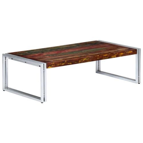 vidaXL Soffbord 120x60x35 cm massivt återvunnet trä