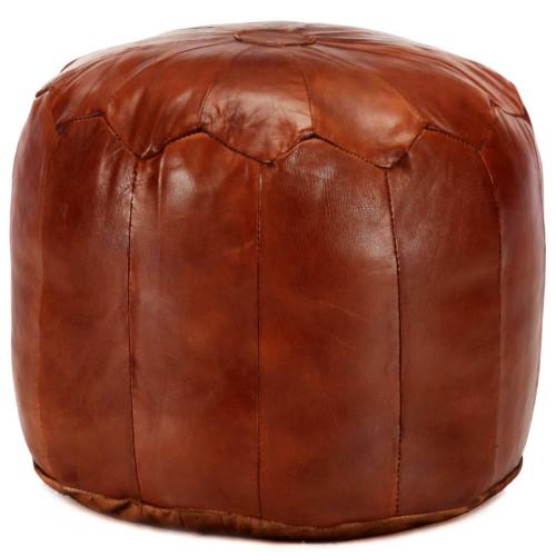 Dream Living Sittpuff brun 40x35 cm äkta getskinn