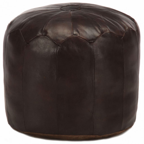 Dream Living Sittpuff mörkbrun 40x35 cm äkta getskinn