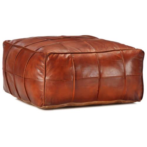 vidaXL Sittpuff brun 60x60x30 cm äkta getskinn