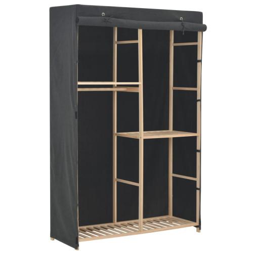 Dream Living Garderob 3 nivåer 110x40x170 cm grå tyg