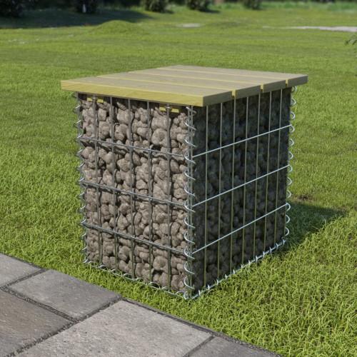 Dream Living Trädgårdspall 40x40x45 cm galvaniserat stål furu