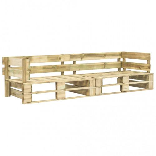 vidaXL Pallsoffa 2-sits trä