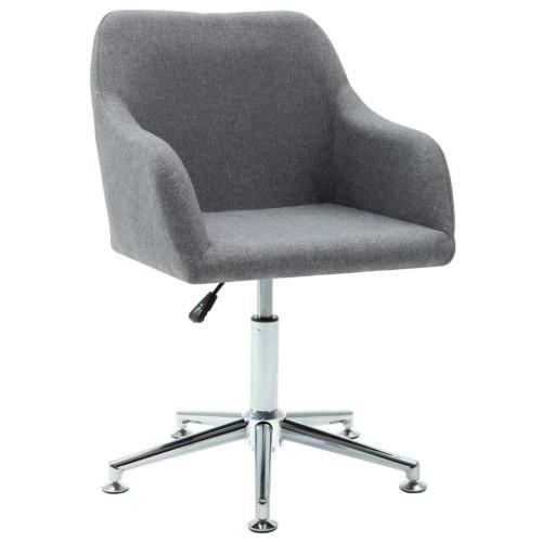 vidaXL Snurrbar kontorsstol ljusgrå tyg