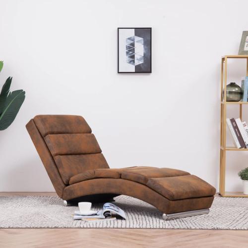 Dream Living Schäslong brun konstmocka