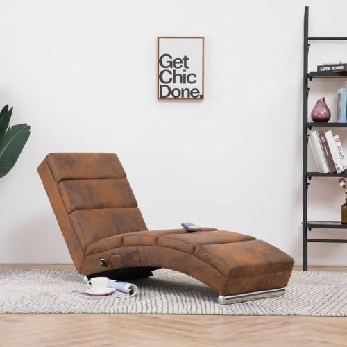 Dream Living Massageschäslong brun konstmocka