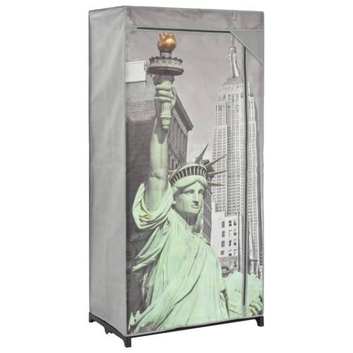 Dream Living Garderob New York 75x45x160 cm tyg