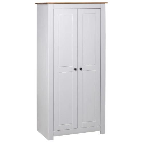 Dream Living Garderob vit 80x50x171,5 cm massiv furu panama
