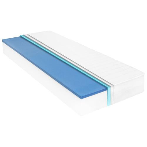 vidaXL Madrass 90x200 cm viskoelastiskt minnesskum 18 cm
