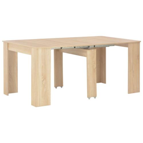 vidaXL Utdragbart matbord sonoma-ek 175x90x75 cm