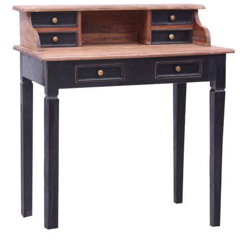 vidaXL Skrivbord med lådor 90x50x101 cm massivt återvunnet trä