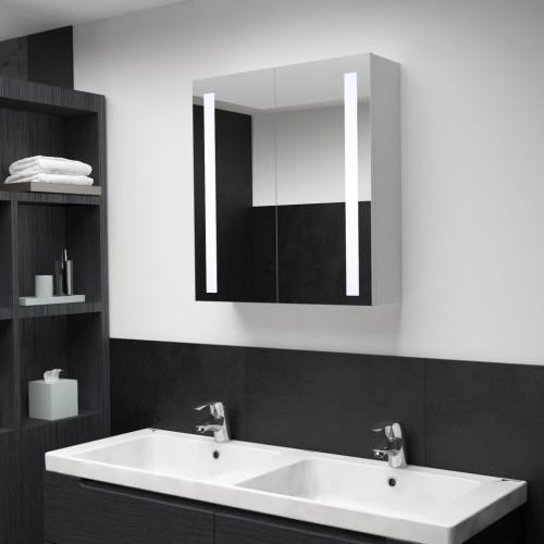 vidaXL Badrumsskåp med spegel LED 60x14x62 cm