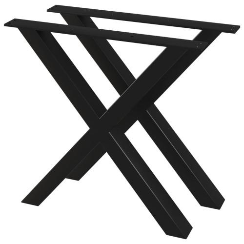 vidaXL Bordsben 2 st X-ram 80x72 cm