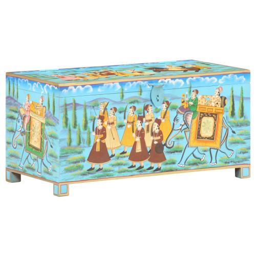 Dream Living Handmålad förvaringslåda 80x40x40 cm massivt mangoträ