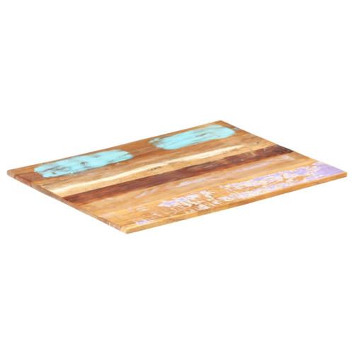 vidaXL Rektangulär bordsskiva 60x70 cm 15-16 mm massivt återvunnet trä