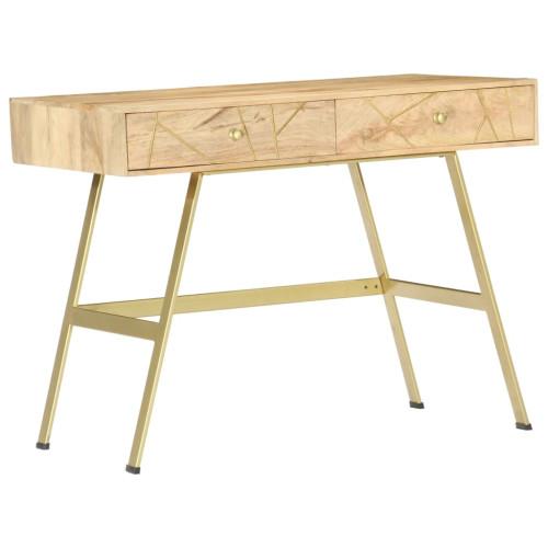 vidaXL Skrivbord med lådor 100x55x75 cm massivt mangoträ