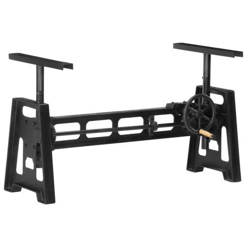 vidaXL Matbordsben höjdjusterbar 150x60x90 cm gjutjärn