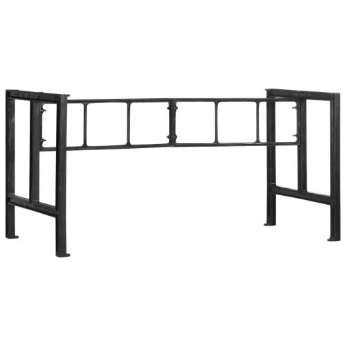 vidaXL Bordsben för matbord 150x68x73 cm gjutjärn