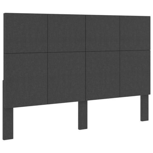 vidaXL Huvudgavel mörkgrå tyg 140x200 cm