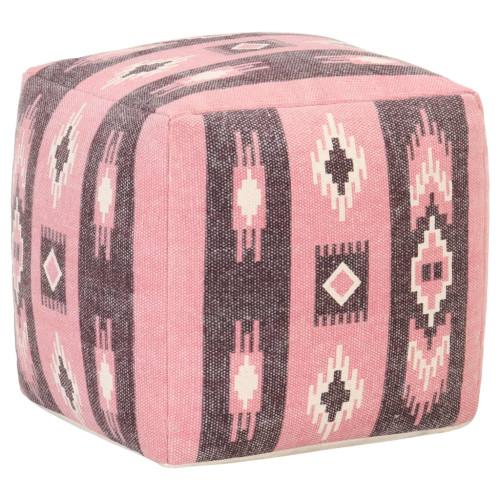 Dream Living Sittpuff design med tryck rosa 45x45x45 cm bomull