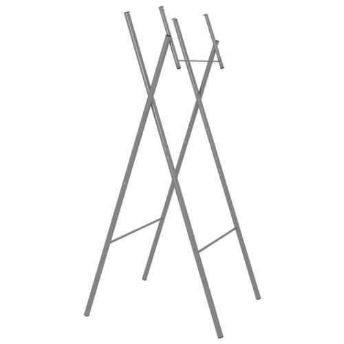 vidaXL Hopfällbara bordsben silver 45x55x112 cm galvaniserat stål