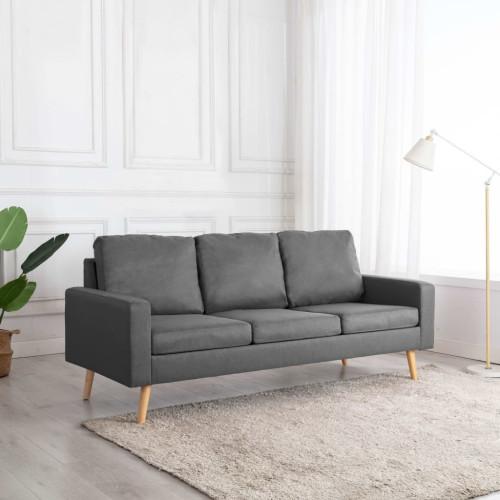 Dream Living 3-sitssoffa tyg ljusgrå