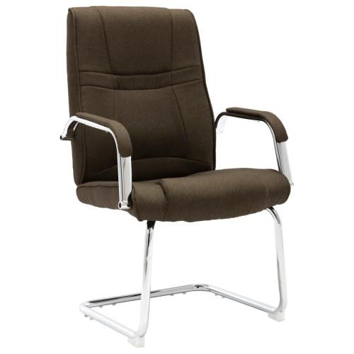 Dream Living Fribärande kontorsstol brun tyg