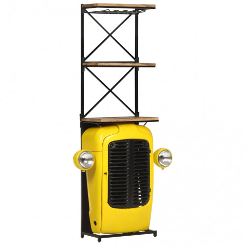Dream Living Vinhylla traktor gul 49x31x170 cm massivt mangoträ