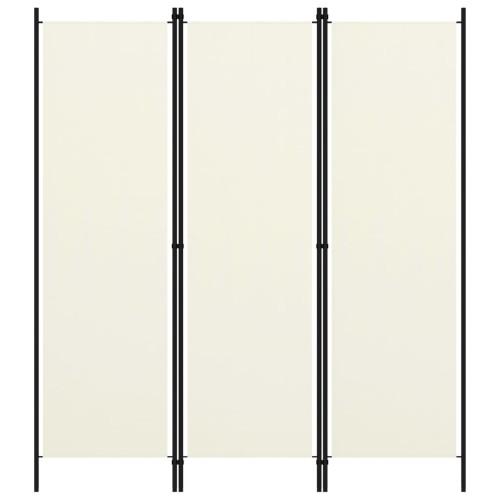 vidaXL Rumsavdelare 3 paneler gräddvit 150x180 cm