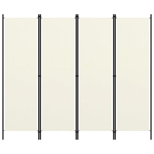 vidaXL Rumsavdelare 4 paneler gräddvit 200x180 cm