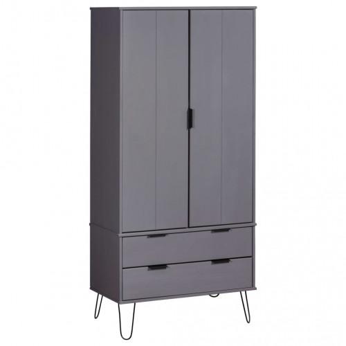 Dream Living Garderob New York Range grå massiv furu