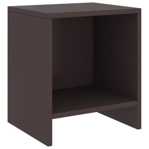 Dream Living Sängbord mörkbrun 35x30x40 cm massiv furu