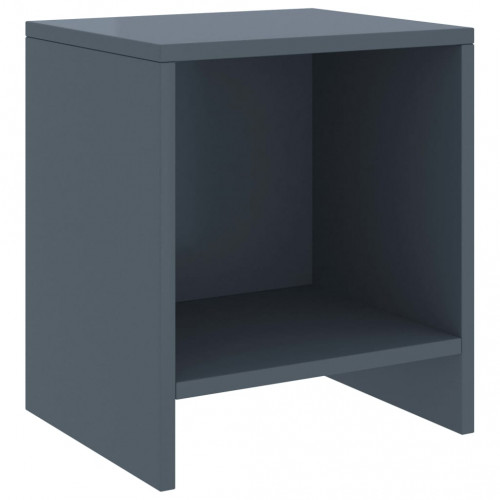Dream Living Sängbord ljusgrå 35x30x40 cm massiv furu