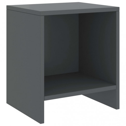 Dream Living Sängbord mörkgrå 35x30x40 cm massiv furu