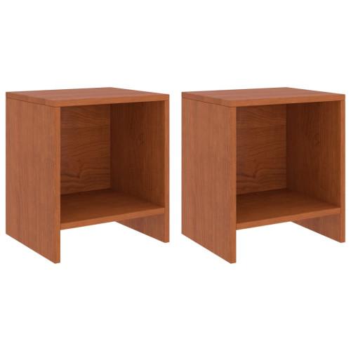 Dream Living Sängbord 2 st honungsbrun 35x30x40 cm massiv furu