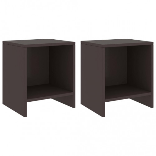 Dream Living Sängbord 2 st mörkbrun 35x30x40 cm massiv furu