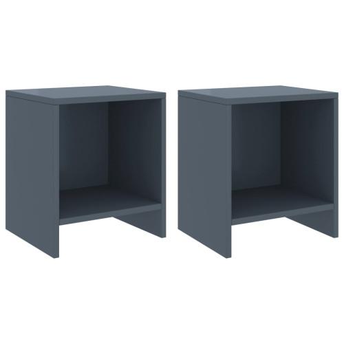 Dream Living Sängbord 2 st ljusgrå 35x30x40 cm massiv furu