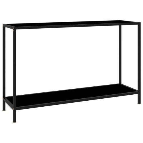 Dream Living Konsolbord svart 120x35x75 cm härdat glas